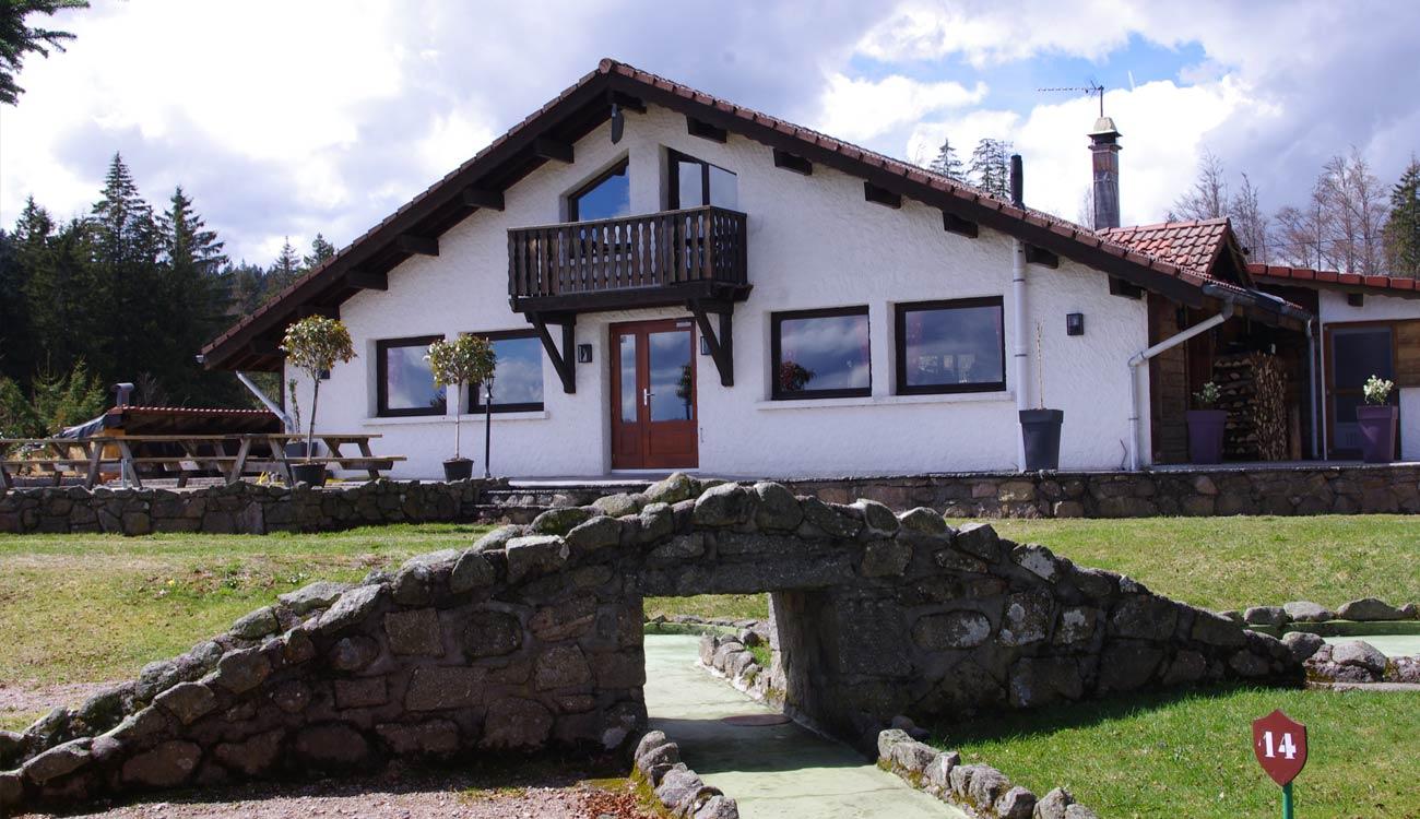L'arrière de L'Etable, restaurant à la Bresse