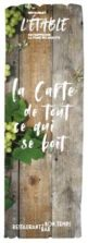 carte des boissons du restaurant l'Etable à La Bresse