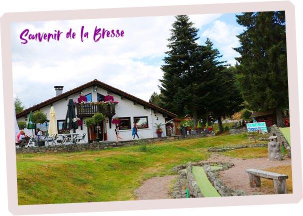 carte postale pour contacter restaurant étable à la Bresse