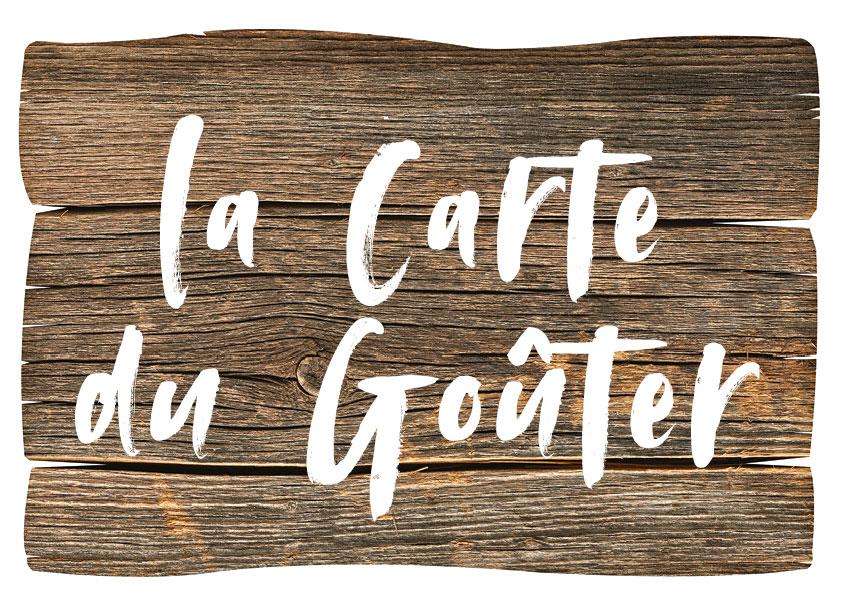 La carte menu du goûter du restaurant l'Etable à la Bresse
