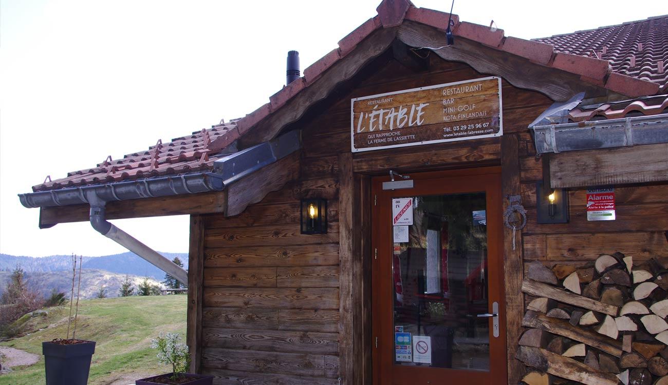 Entrée du restaurant L'Etable à la Bresse