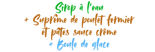 Détail menu enfant L'Etable restaurant à la Bresse