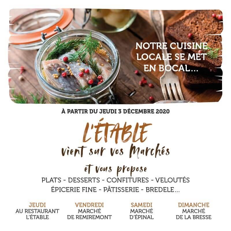 Cuisine bocal Restaurant L'Etable à la Bresse